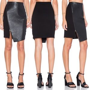 Final $ Anthro Bailey 44 Quilted Leather Skirt