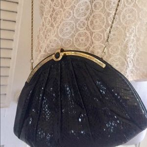 FIRM Vintage 1950's Bag with Gold Chain, Snakeskin