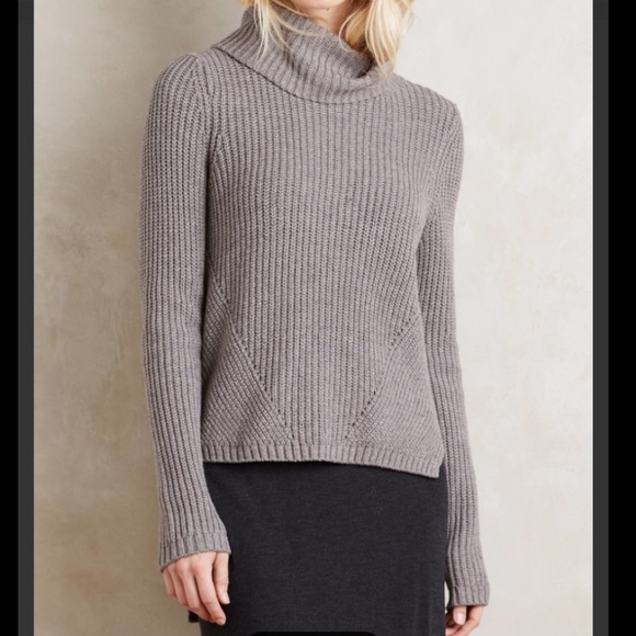 65% off Anthropologie Sweaters - Anthropologie High Low Turtleneck ...