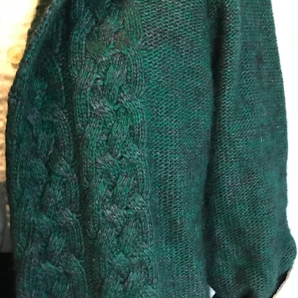Max Studio Sweaters - Max Studio Hunter Green Angora Sweater Cardigan XL