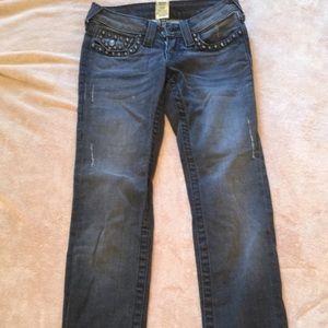 True Religion Studded Gray Jeans 24