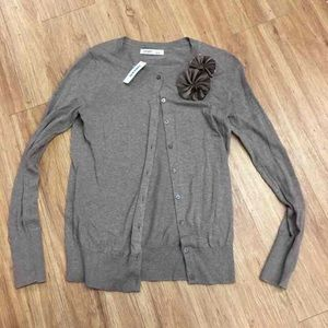 Old Navy Brown Lightweight Cardigan Sweater NEW S