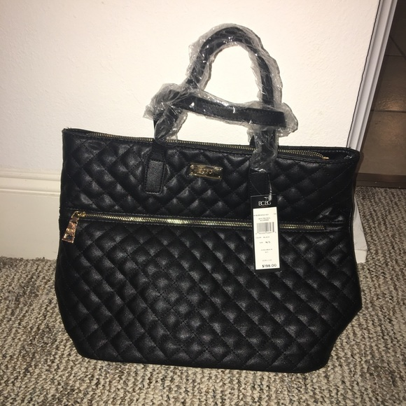 85% off BCBG Handbags - New with tag BCBG Paris quilted black tote ...