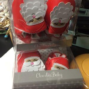 Holiday cheer Baby loafers - Santa