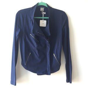 Free People Jackets & Blazers - Bobi LA lightweight Terry Moto Jacket, XS