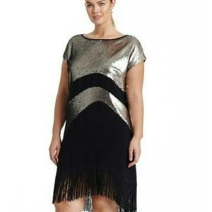 Elvi Dresses & Skirts - Sequin Fringe Dress by Elvi BUNDLE & SAVE