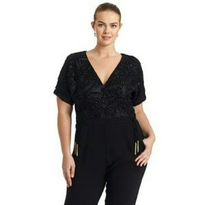 Elvi Pants - Black Jumpsuit by British designer Elvi