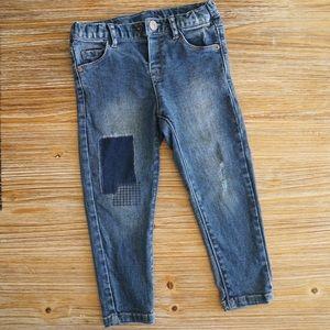 Zara Baby Girl Jeans, size 18-24 months.