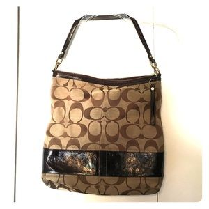 Coach Brown Signature Canvas Bag