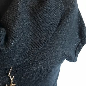 Express Sweaters - Express black shimmery cowl neck sweater sz small