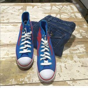 kangaroos Shoes - Kangaroos Men's Blue/Red Shoe-Sz 7