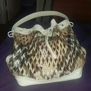 Burberry Handbags - Firm!Beautiful AuthBurberry LG. Whitecheck Handbag