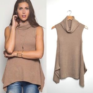 Tops - Taupe Sleeveless Top