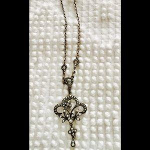 Jewelry - Fleur de lis graphite necklace