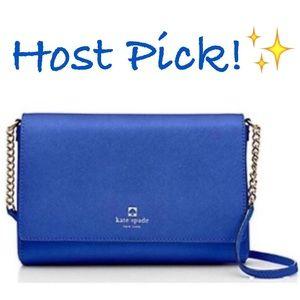 kate spade Handbags - ✨NWT✨ Kate Spade Blue Leather Crossbody Bag