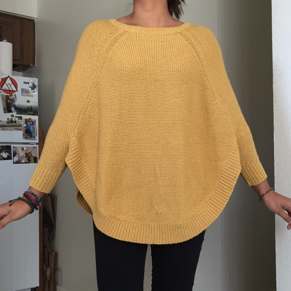82% off Anthropologie Sweaters - Anthropologie Mustard Yellow ...