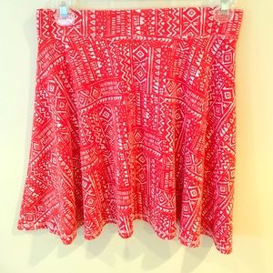 Really cute Aztec pattern red skirt