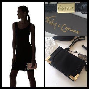 "Foley + Corinna Handbags - ""FRAMED"" WRISTLET CLUTCH"