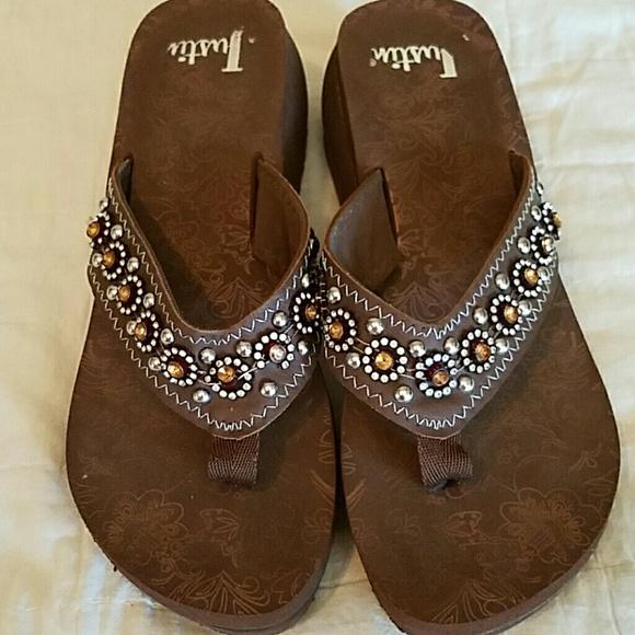 51ea06f76835ec Justin Shoes - Justin Bling Flip Flops