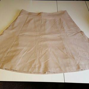 A Line Tweed Beige Skirt