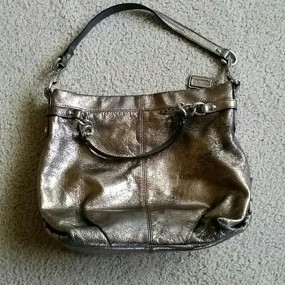 6b7cde567fc Coach Bags   New Brooke Metallic Leather Bag   Poshmark