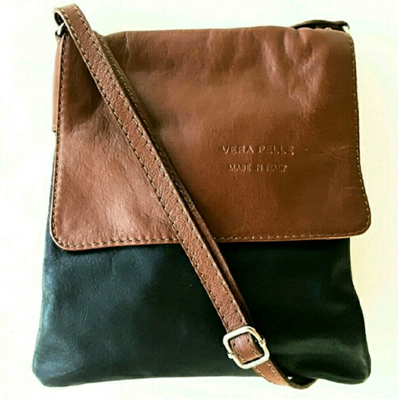 Vera Pelle Bags Leather Messenger Crossbody Bag Poshmark