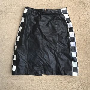 vintage leather racing skirt