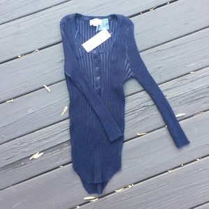 Tops - Super stretch button-up sweater