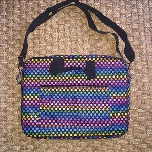 Handbags - Rainbow Black Laptop Case Crossbody