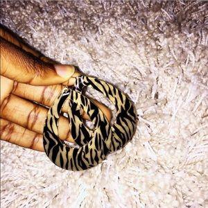 Topshop Jewelry - TOPSHOP animal print earrings
