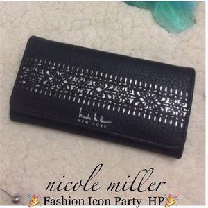 Nicole Miller Handbags - Nicole Miller Laser Cut Wallet NWT
