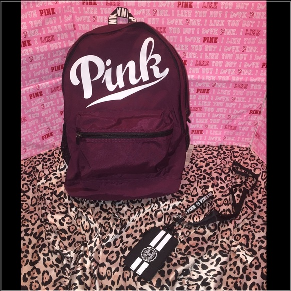PINK Victoria's Secret - Vs PINK campus backpack & lanyard black ...