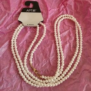 """🆕60"""" Strand of Faux Pearls NWT by APT. 9"""