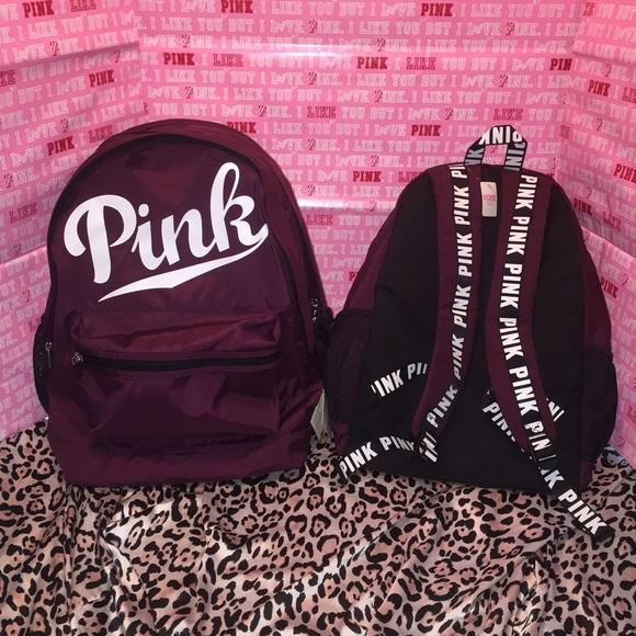PINK Victoria's Secret - Vs PINK black orchid campus backpack ...