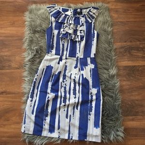 Banana Republic Ruffled Sheath Dress