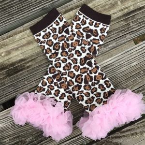 Other - Leopard and tulle leg warmers