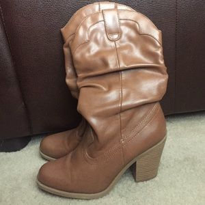 """Kensie Girl Shoes - Slouchy """"Cowgirl"""" Boots"""