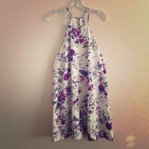 Elan Dresses & Skirts - Floral Halter Swing Dress