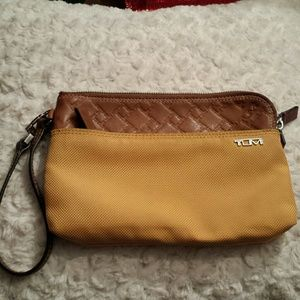 Tumi Handbags - Tumi Leather and Nylon Wristlet