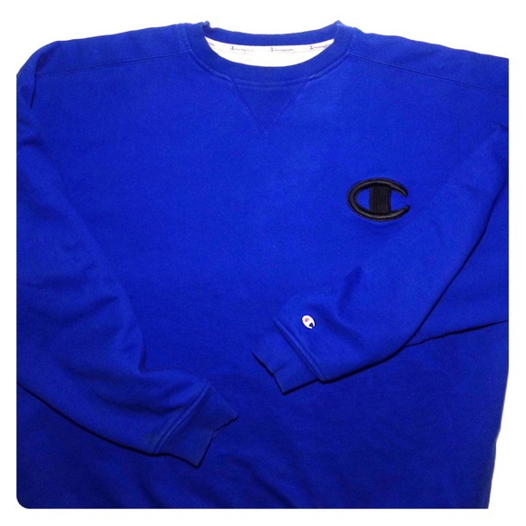 62% off Champion Other - Champion 'Royal Blue' Pullover Sweater ...