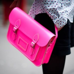 Cambridge Satchel Handbags - 👛🌈🎆 NEON PINK Cambridge Satchel Company Bag