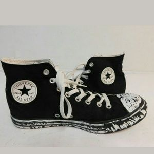 Converse Shoes - Converse Unisex Black And White HighTops,10M&12W