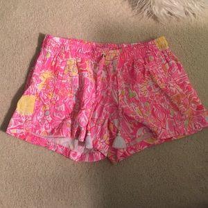 Sunshine Lilly Pulitzer Tassel Linen Shorts
