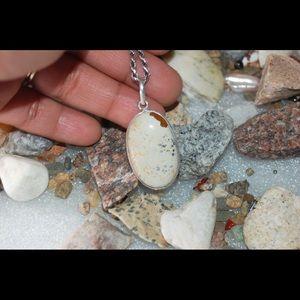 "handmade & handcrafted gemstone jewelry Jewelry - ✂️SALE✂️Picture Jasper Oval Pendant 1"""