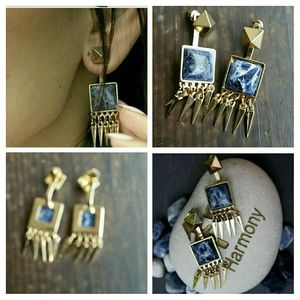 October Love Jewelry - October love 18k gold plated  Lapiz earrings