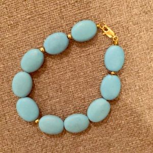Jewelry - Turquoise bracelet with gold accents