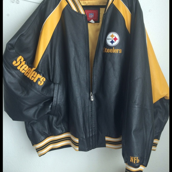 new style 1a8dd d31c8 Pittsburg Steelers Leather Jacket 5X