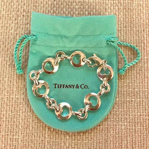 cf07ffcc88fae Tiffany & Co. Sterling Stencil Heart Bracelet