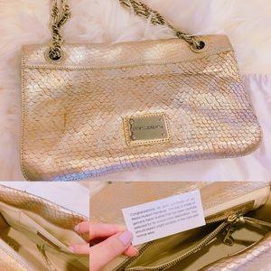 Alexis Hudson Bags - Alexis Hudson Gold Snake Pattern Handbag