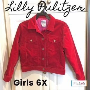 Lilly Pulitzer Other - Lilly Pulitzer Lined Corduroy Girls Jacket Size 6X